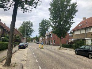 Een foto van de Philips Vingboonsstraat om te laten zien hoe de straat er nu uitziet.