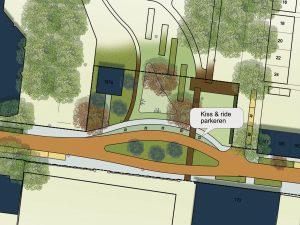 Ontwerp laat nieuwe parkeer- en verkeerssituatie rondom Lumenplantsoen zien